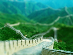 Great Wall 2 (Astro-Chimp) Tags: china miniature greatwall fakes tiltshift