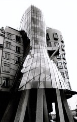 Shake (aqui-ali) Tags: bw film topf25 glass architecture ginger exterior prague fv5 czechrepublic roger frankgehry gehryx aquiali:a=1