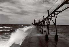 grand haven light (snapstill studio) Tags: new lighthouse storm michigan spray lakemichigan breakwater grandhaven roughwater martinmcreynolds nikonstunninggallery