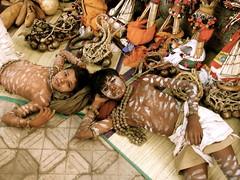 Tribal protestors in Mumbai taking a break.