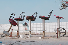 Have a Seat (Dominic Mercier) Tags: mississippi katrina hurricane wafflehouse longbeach domino stools devastation 1on1 i500 criticismwelcome theinterestingest
