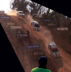 Mineshaft Jump (jæms) Tags: road topf25 car race photoshop jump track crash accident rally australia explore dirt canberra mineshaft lancer mitsubishi act evo