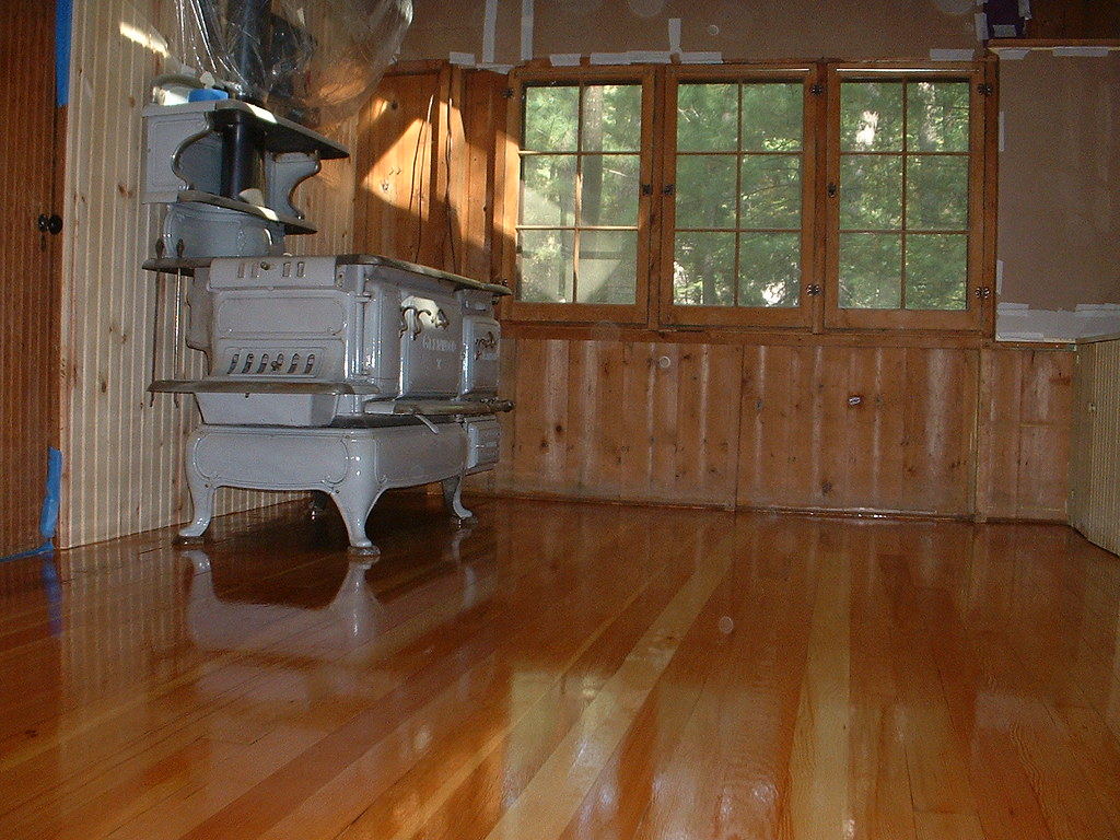 After - Painted Pine Floor