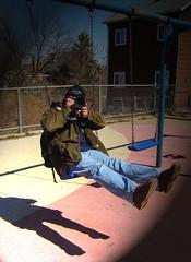 (MacaDamien) Tags: camera shadow dan playground rocks shoot swings floating swing float macwagen danb mckeesrocks mckees flickrthis pghphoach031906