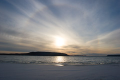 22 Circular Halo & Parhelia (Leviathor) Tags: sky sun nature minnesota wisconsin 22 halo refraction mississippiriver physics sundog parhelia optics 1740l radius 22degree atmosphericphenomenon mocksun 22 cirrostratushaze frhwofavs
