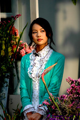 Actress 3 (Shanghai Sky) Tags: china flowers woman flower female asian asia shanghai 100v10f commercial actress shanghaiist