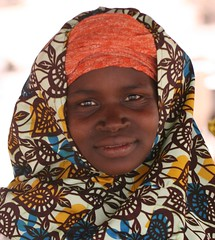 Bobo, Mali (Ferdinand Reus) Tags: africa travel portrait people woman girl work happy veiled faces islam religion bobo culture mali batik djenne mopti afrique theface  timbouctou