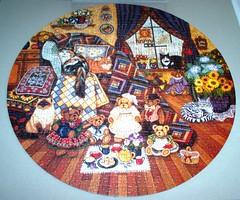 Country Comforts (Lorna Drew) (Leonisha) Tags: cat toys puzzle teddybear katzen jigsawpuzzle leofav2