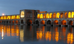 famous Khajoo bridge (Alieh) Tags: bridge river iran isfahan khajou zayanderood aliehs