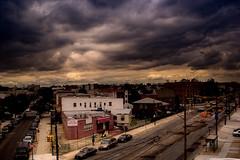 one fine evening (Ali Brohi) Tags: newyorkcity urban newyork streets 20d brooklyn clouds canon cityscape stormy weeklysurvivor stillwell seedingchaos weeklyblog48 moazzambrohicom httpwwwmoazzambrohicom wwwmoazzambrohicom