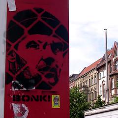 stencil graff. BONK! (Loso) Tags: streetart berlin urban art stencil graffiti bonk prenzlauerberg