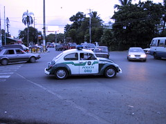 Third world police car (dumell) Tags: car bug volkswagen dominicanrepublic beetle policecar 0410 policia santodomingo kfer coccinelle type1 volkswagenbeetle vocho volkswagentype1