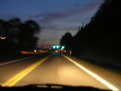 Post Road (It'sGreg) Tags: night inamovingcar utatahood utatagettingaround