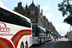Coach load upon coach load... (itmpa) Tags: slr canon march scotland edinburgh 300d canon300d demonstration makepovertyhistory coaches tenements g8 marchmont tomparnell itmpa archhist