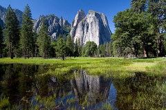 Cathedral Rocks and Spires (Dale Allyn) Tags: reflection canon seasons cathedral yosemite 1022mm cathedralrocks canon1022 thepainter fivestarsgallery