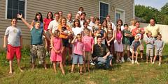 Family reunion: The Brenizers. (Ryan Brenizer) Tags: 2005 family me sony flash crowd july ofme missouri dscw7 carpeicthus flickr:user=carpeicthus