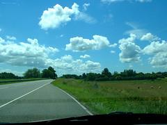 on the road to Hellevoetsluis (Searocket) Tags: 2005 road sky cloud holland netherlands dutch car weather clouds skies sheep searocket nederland piesen
