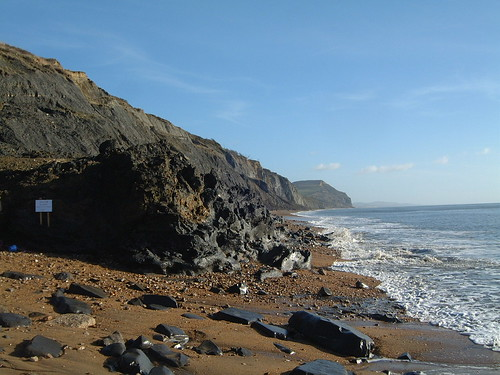 Mudslide at Charmouth © Juicy Geography