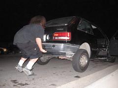 strong man 2006 (brandonscales) Tags: car night dark crazy lift vince