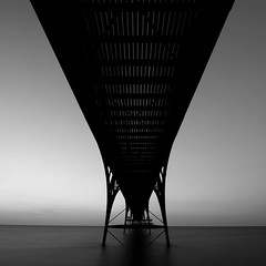 pier underside (Adam Clutterbuck) Tags: uk longexposure greatbritain blackandwhite bw white seascape black 20d monochrome silhouette square landscape mono pier blackwhite top20bw forsale quality symmetry canoneos20d bn minimal elements slowshutter gb blogged bandw simple sq limitededition clevedon slowshutterspeed distilled simplified payitforward greengage asymmetrya scoreme48 been1of100bw adamclutterbuck sqbw bwsq showinrecentset limitededition195 midedition le195
