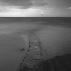 slipway (Adam Clutterbuck) Tags: uk longexposure greatbritain sea blackandwhite bw white seascape black monochrome square landscape mono blackwhite 300d forsale somerset bn minimal elements slowshutter gb blogged bandw simple sq limitededition canoneos300d burnham burnhamonsea slowshutterspeed distilled simplified greengage scoreme46 adamclutterbuck sqbw bwsq showinrecentset limitededition195 midedition le195