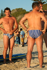 Stripes (sengsta) Tags: beach speedos surflifesavers northcottesloe