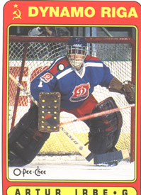 arturs irbe playing for dynamo riga
