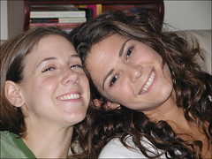 Julie and I (eastsidegiggler) Tags: girls friends smiles eastside brunettes
