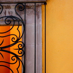 sunny inside and out (msdonnalee) Tags: orange abstract window mxico mexico ventana fenster  finestra sanmigueldeallende mexique janela guanajuato ironwork naranja windowframe fenetre mexiko messico arancia abstrait venster   windowgrill supershot abstakt i abstacto  abstractwindow  irongrillwork colourartaward artlegacy donnacleveland abstratto photosofsanmigueldeallende photosbydonnacleveland