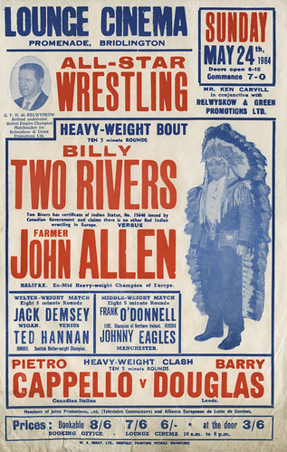 wrestling poster, bridlington - 1964