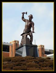Purdue Pete Statue (Hammer51012) Tags: statue geotagged indiana olympus purdue westlafayette purdueuniversity rossadestadium boilermaker purduepete sp570uz