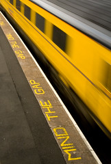 Mind the Gap (~~StuArt~~) Tags: motion yellow train newcastle platform mindthegap tynewear manors cotcpersonalfavorite 2for2 25faves canoneos400d 123f1 aplusphoto superhearts photofaceoffwinner pfogold thepinnaclehof tphofweek73