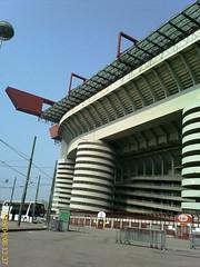 Esterno dello stadio di San Siro Milano