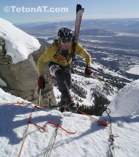 Ski Patroller and course setter Mike Werner tests the product
