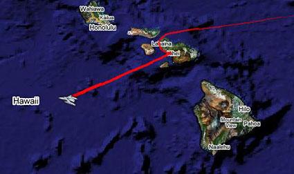 Earthrace leaves Hawaii