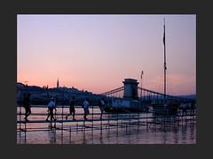 Flood (Gab) Tags: bridge light sky people hungary flood budapest 123 duna danube m