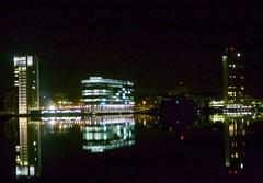 Keilaranta waterfront on a calm night (HyperBob) Tags: espoo finland elisa keilaranta fortum utata:project=nocturnal2