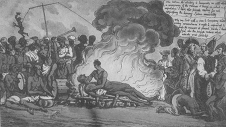 Burning of A Hindoo Widow, by James Peggs