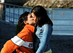 The Kiss (pedrosimoes7) Tags: portugal kiss couple lisbon passion caughtintheact cpt thecontinuum parqueexpo ultimateshot