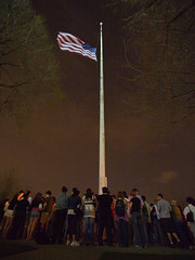 Virginia Tech Vigil on Castle Point - by David Pfeffer
