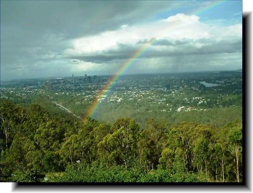 Brisbane with rainbow