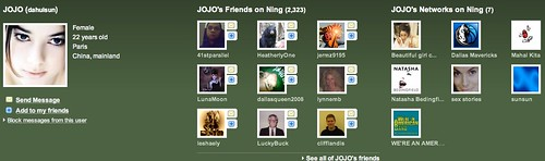 Beware of Ning friend requests