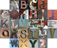 Rusty and crusty letters