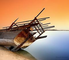 Old Port [HDR] (Hussain Shah.) Tags: sea port d50 boat wooden nikon ship kuwait 1855mm nikkor tobacco hdr doha cokin الكويت supershot 4shots abigfave superaplus aplusphoto ميناءالدوحة