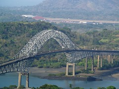 Bridge of the Americas, Balboa, Panama (david_ancon) Tags: bridge panama balboa centralamerica panamacanal canalzone bridgeoftheamericas thatcherferrybridge