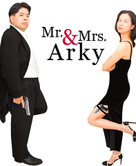 Day 214: Mr. & Mrs. Arky (arkworld) Tags: selfportrait 365days moodgood spoof parody movie mrandmrssmith jane wife husband interestingness interestingness1 iapr07 365explore 365
