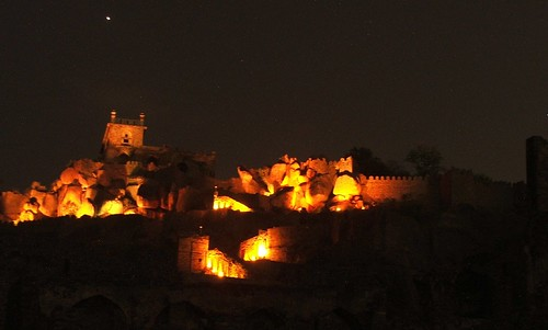 Golconda fort - light and sound