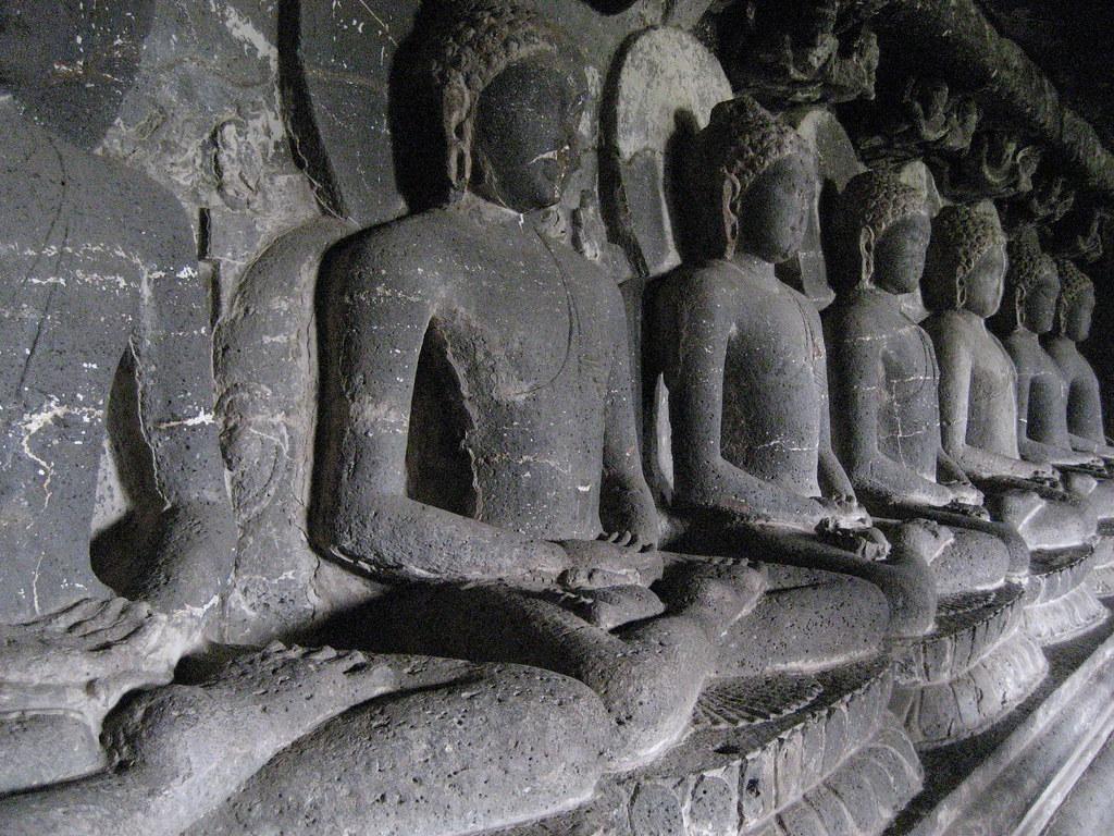 Buddhas at Ajanta