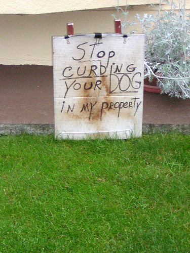 Stop Curbing Your Dog In My Property!