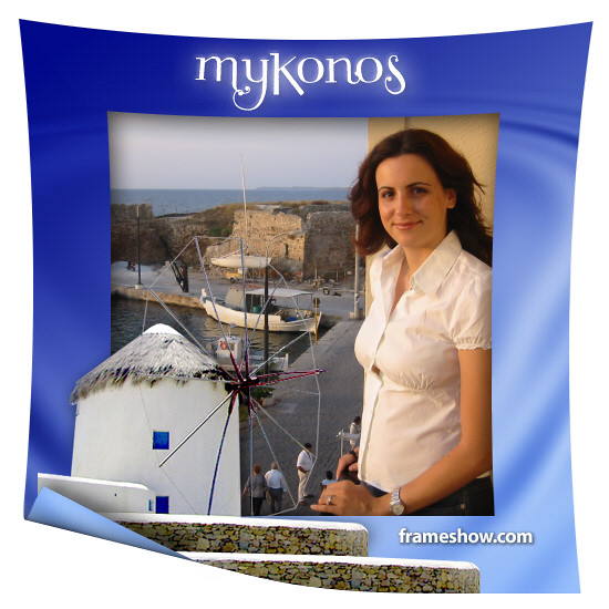 Mykonos quotLocations - Vacationsquot Photo Frame 793 by photoframeshow